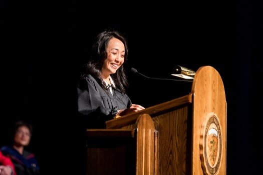 Lakeland grad shares advice during Opening Convocation