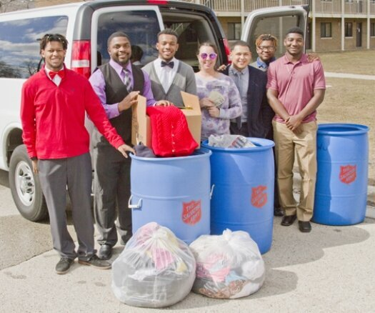 LU fraternity Beta Sigma Omega donates to Salvation Army again