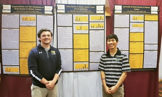 LU exercise science students Rose, Takahashi present at Wisconsin Athletic Trainers Association conference