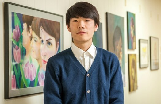 Art student featured at local gallery