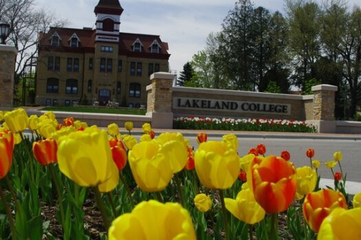 Tulips at Lakeland College