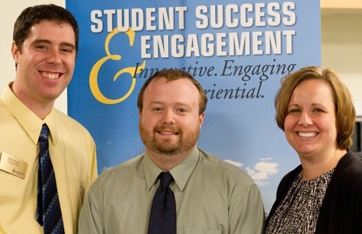 Rick Herian, Lucas Dulmes and Jessica Lambrecht of the Lakeland College Success and Engagement office were instrumental in helping the college garner this special grant.